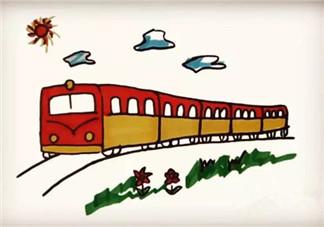 儿童简笔画 小火车简笔画